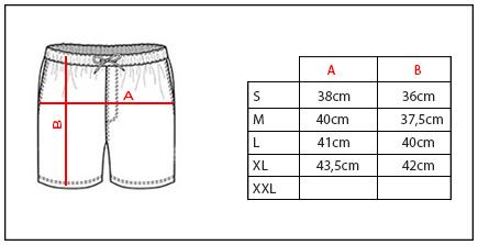 Tabla de medidas de bañador de ropa urbana Credens
